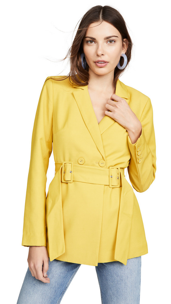 C/Meo Collective Silenced Blazer in yellow