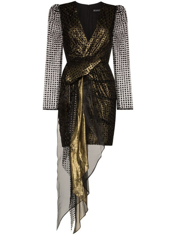 Haney Simone metallic dress in black