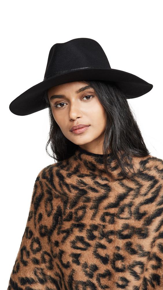 Rag & Bone Kacy Fedora Hat in black