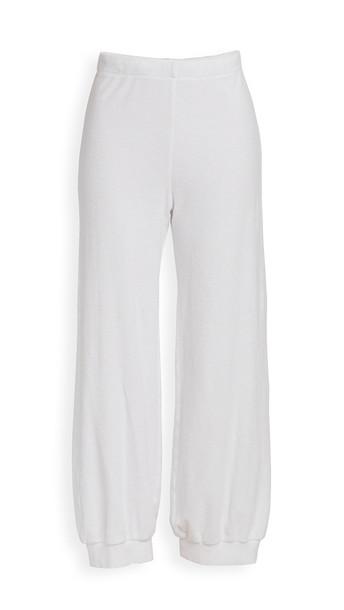 Kondi Terry High Waist Harem Pants in white