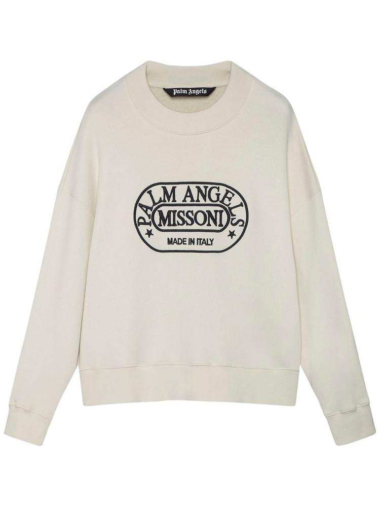 PALM ANGELS Capsule Missoni Heritage Sweatshirt in black / white