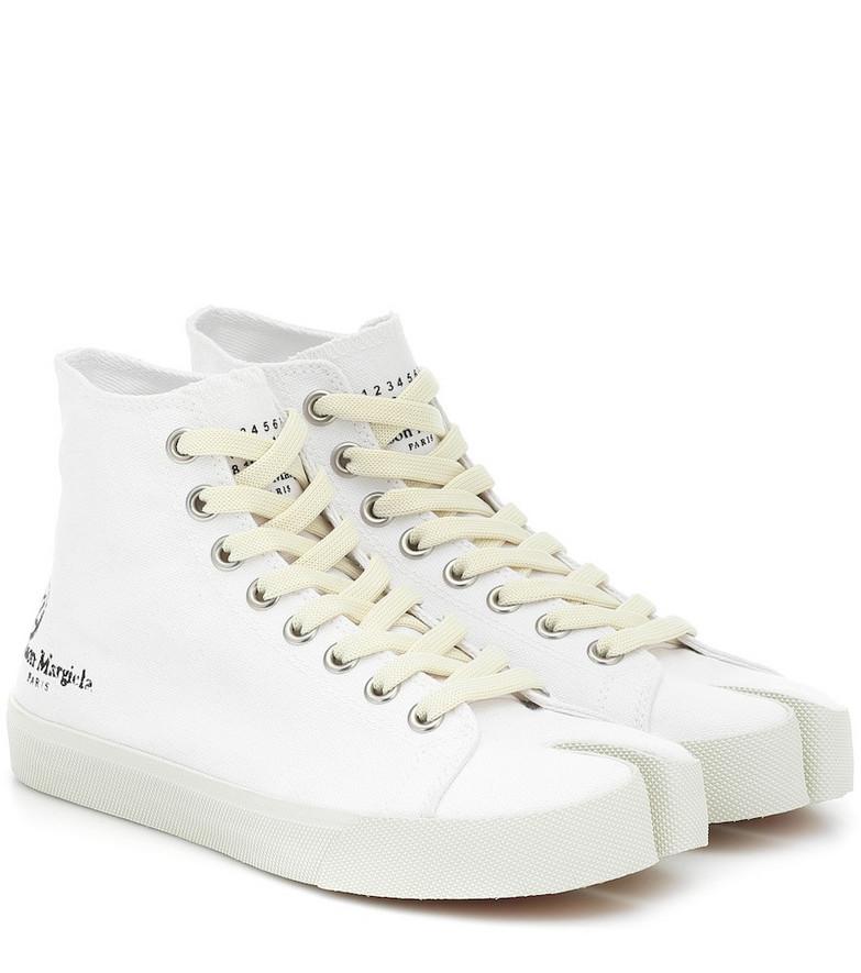 Maison Margiela Tabi canvas sneakers in white
