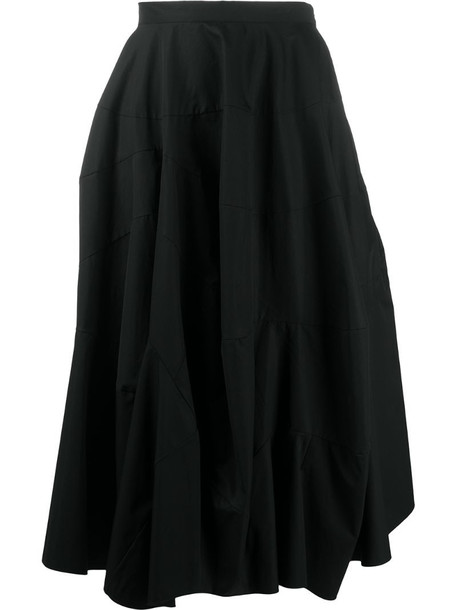Nina Ricci flared high-waisted skirt in black
