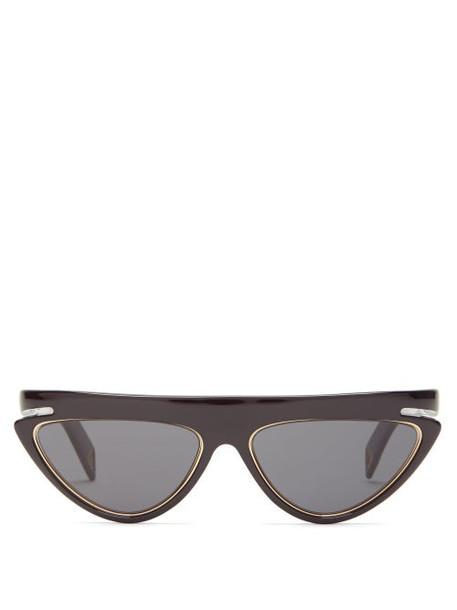 Fendi - Ffluo Cat Eye Optyl Sunglasses - Womens - Black