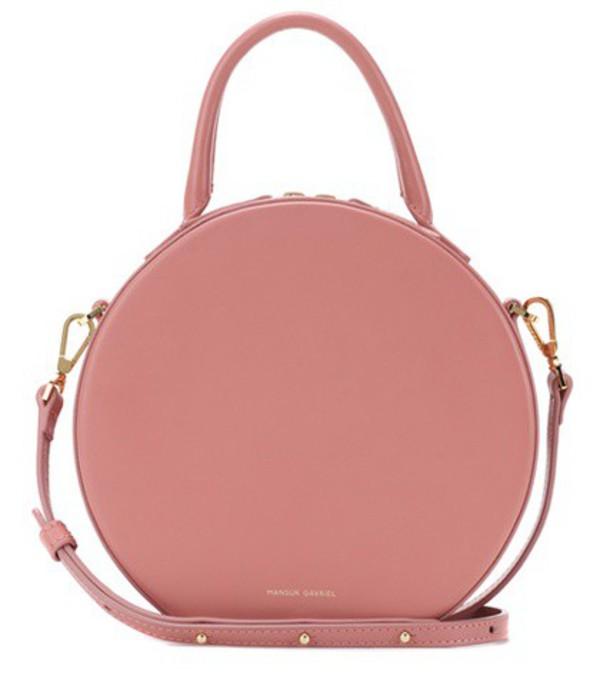Mansur Gavriel Circle leather crossbody bag in pink