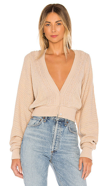 Free People Moon River Cardigan in Taupe