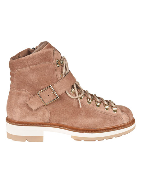 Santoni Front Strap Laced-up Boots in brown