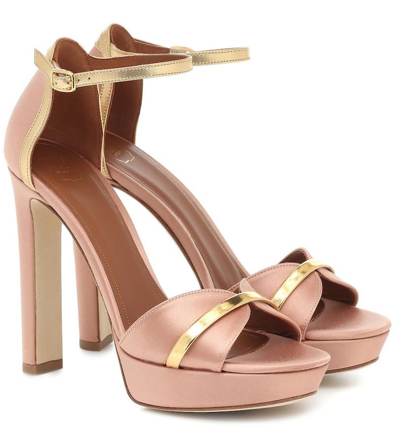 Malone Souliers Miranda 125 satin sandals in gold