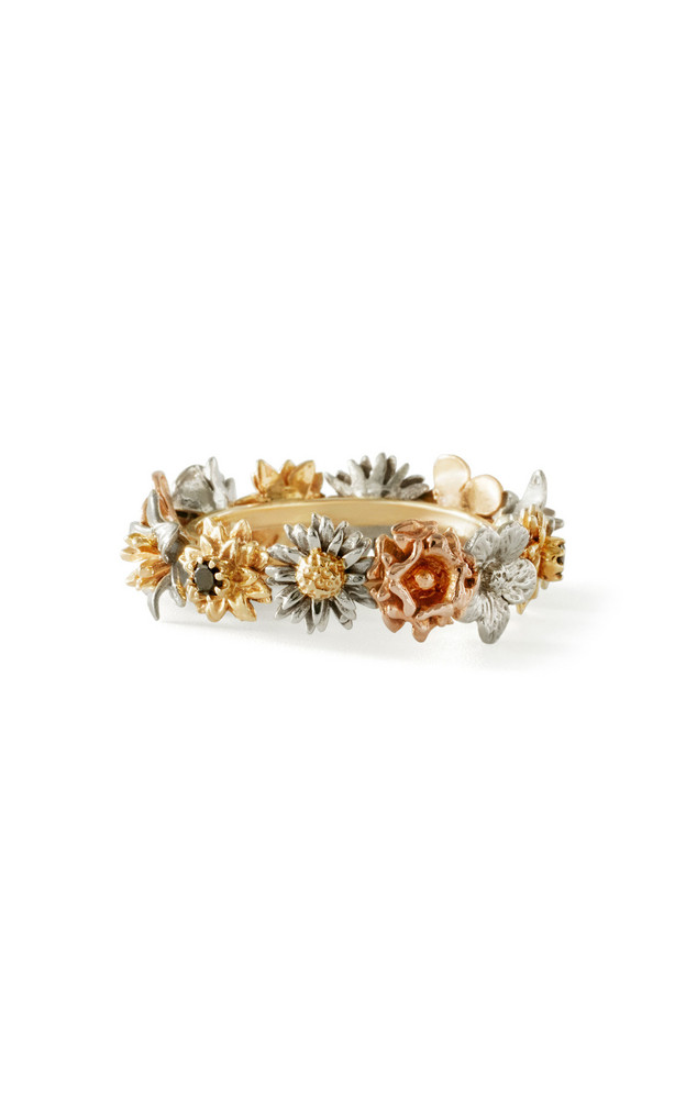 Bernard James Flora 14K Gold Diamond Ring in multi