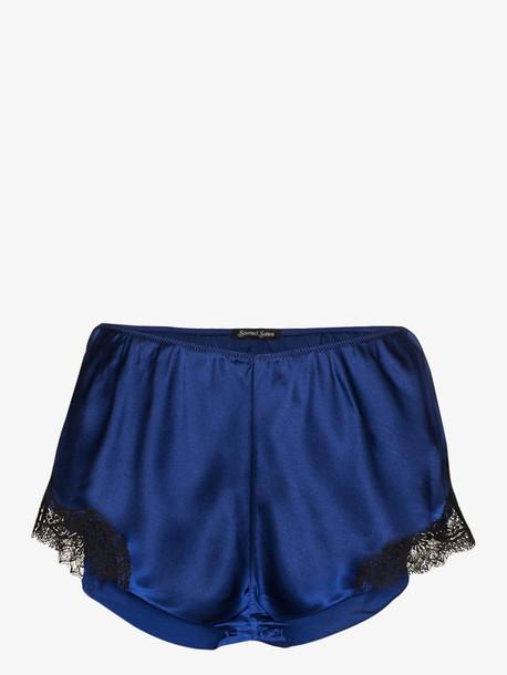 Sainted Sisters midnight black Scarlett silk shorts