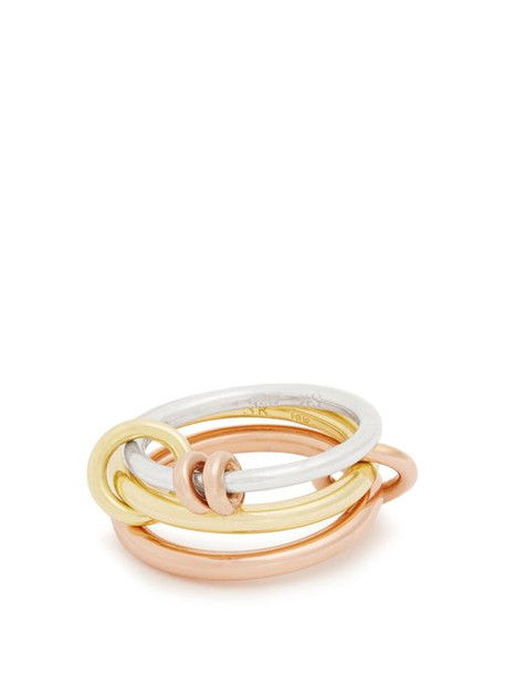 Spinelli Kilcollin - Raneth Silver, Yellow & Rose Gold Ring - Womens - Gold