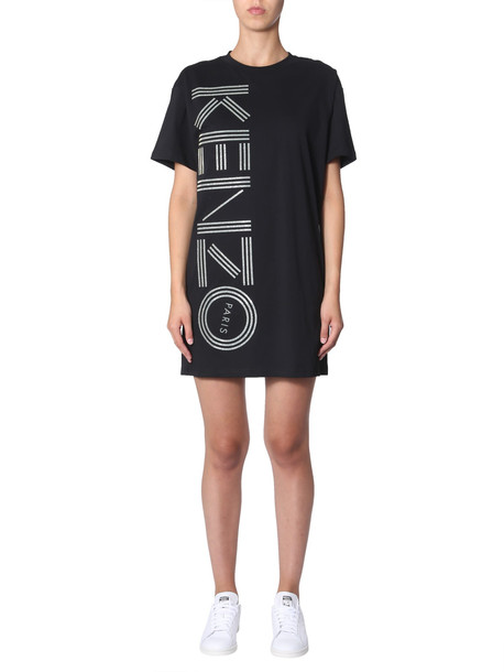 Kenzo Dress With Side Logo in nero