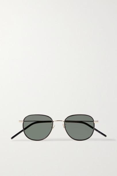 SAINT LAURENT - Windsor Round-frame Gold-tone Sunglasses