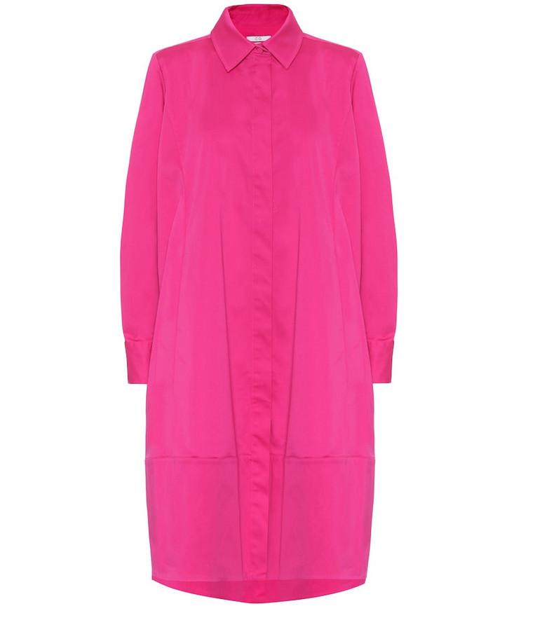 Co Stretch-cotton midi dress in pink
