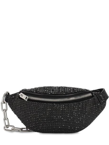 ALEXANDER WANG Mini Attica Embellished Soft Belt Bag in black