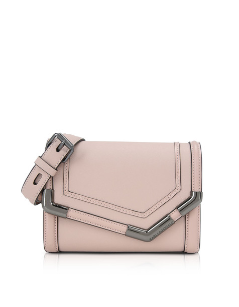 Karl Lagerfeld K/rocky Saffiano Small Shoulder Bag in pink