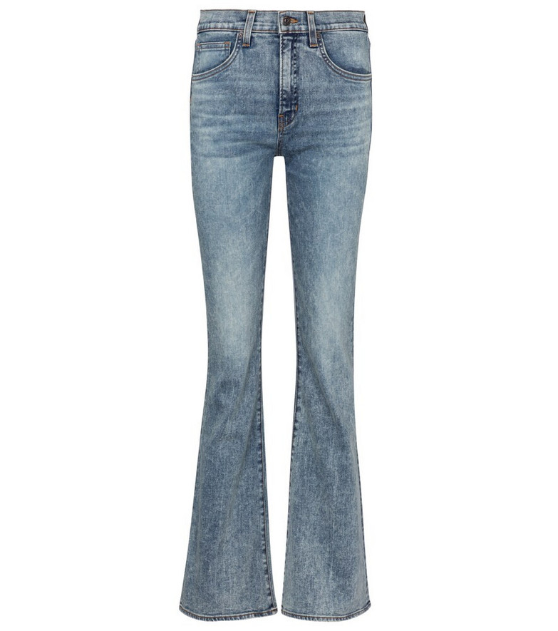 Veronica Beard Beverly high-rise flared jeans in blue