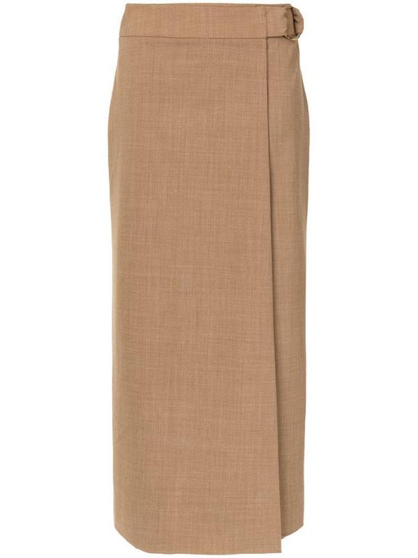 Anna Quan Nicolette midi skirt in brown