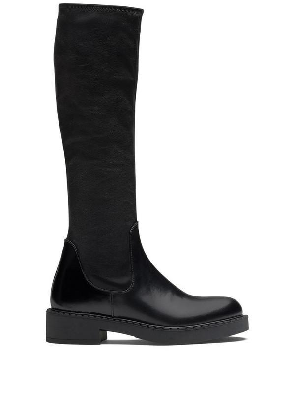 Prada knee-high boots in black