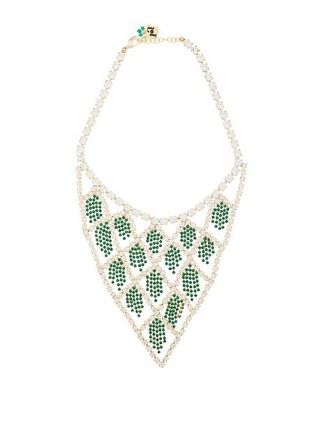 Rosantica By Michela Panero - Divinita Crystal Necklace - Womens - Green