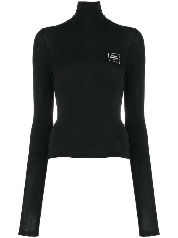 Opening Ceremony fitted turtleneck jumper in black