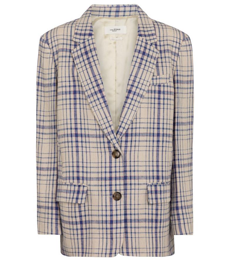 Isabel Marant, Étoile Ilindae checked linen blazer in blue