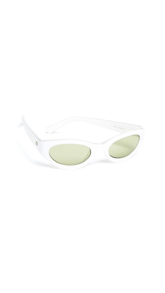 Le Specs Body Bumpin Sunglasses in khaki / white
