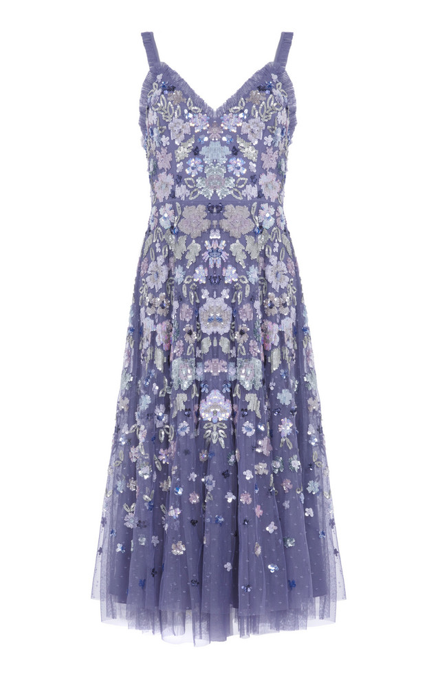 Needle & Thread Wildflower Sequin Midi Dress in blue