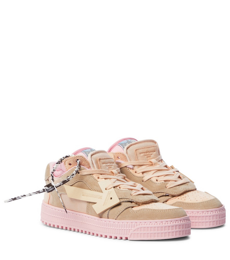 Off-White OFF-COURT 3.0 suede sneakers in pink