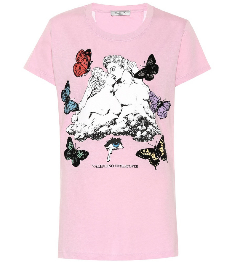 Valentino x UNDERCOVER printed cotton T-shirt in pink