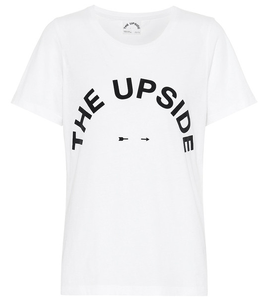 The Upside Tee cotton T-shirt in white