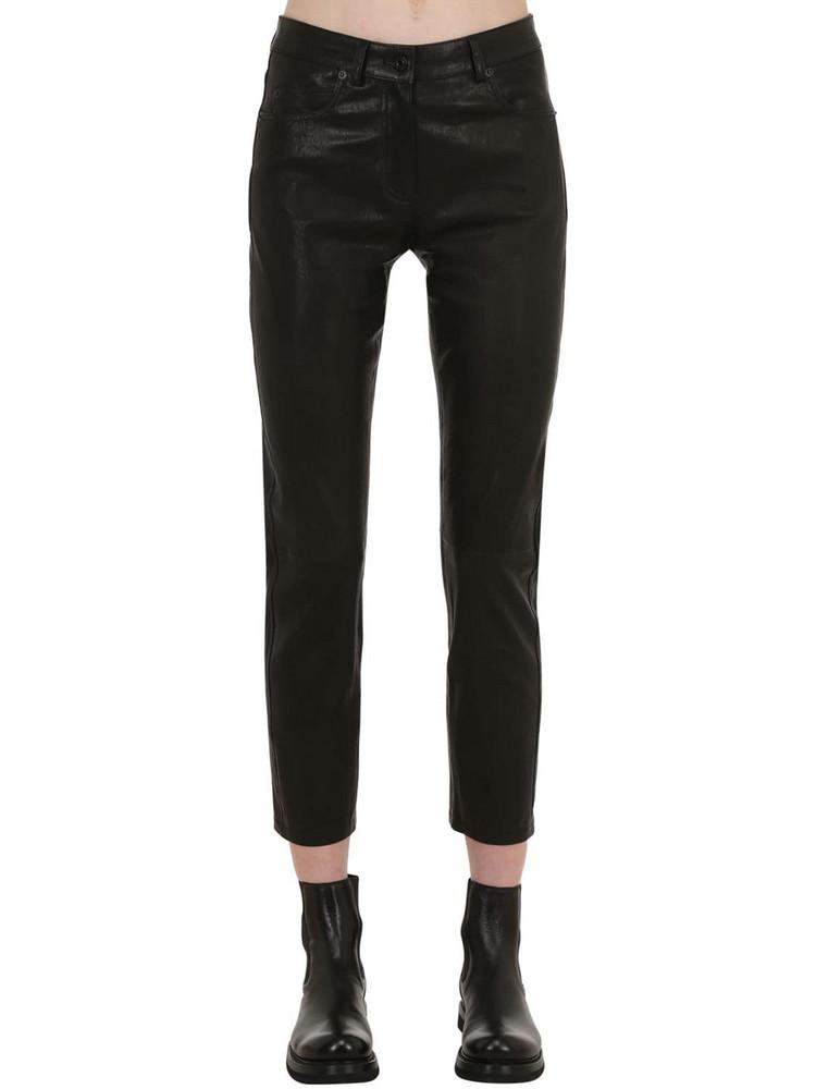 BELSTAFF Mistley Leather Pants in black