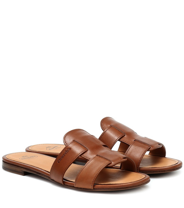 Church's Dee Dee leather slides in brown