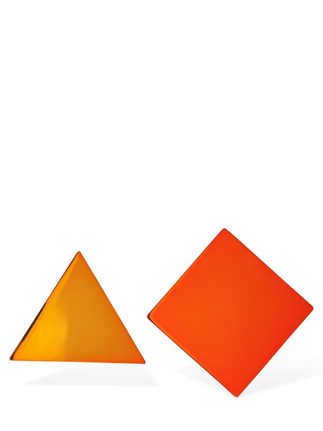 MISSONI Mismatched Geometrical Clip-on Earrings in orange / yellow