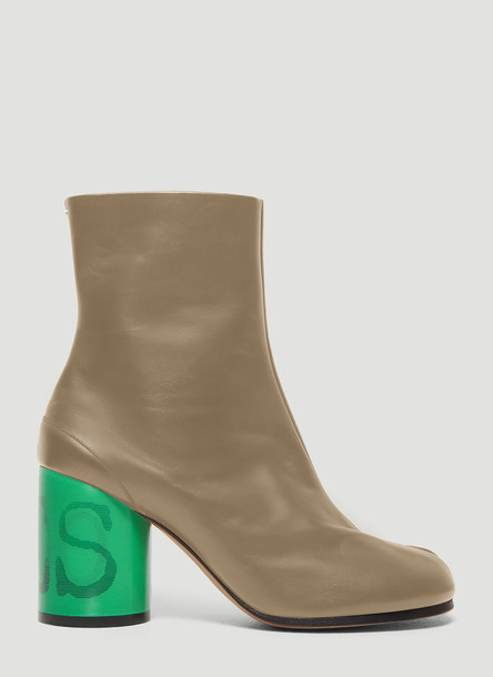 Maison Margiela Tabi Graphic Heel Boots in Beige size EU - 37
