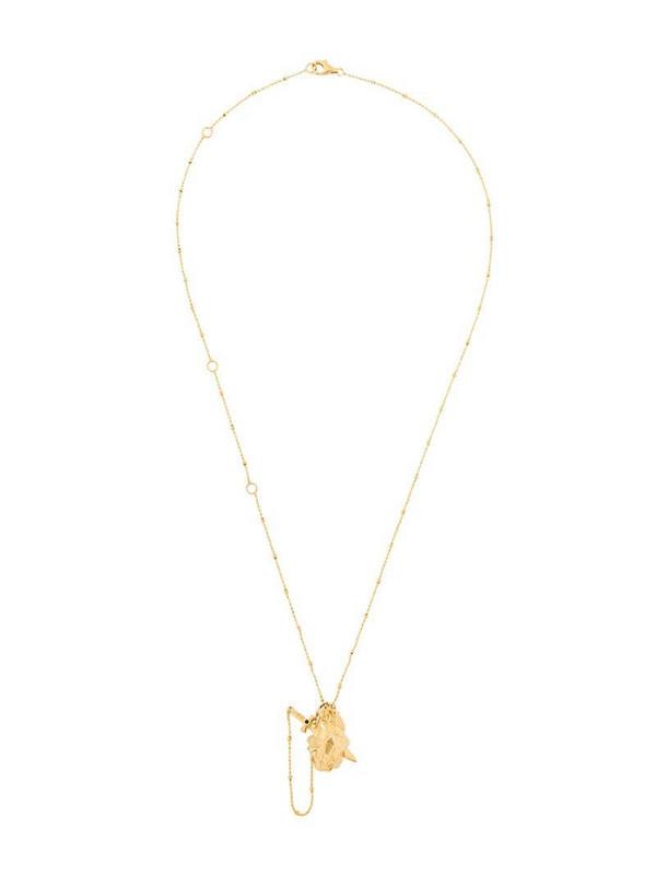 Kasun London vampire heart pendant necklace in metallic