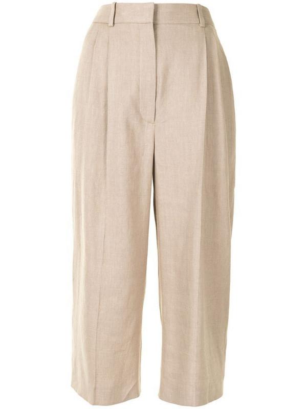 Altuzarra Petunia cropped trousers in neutrals