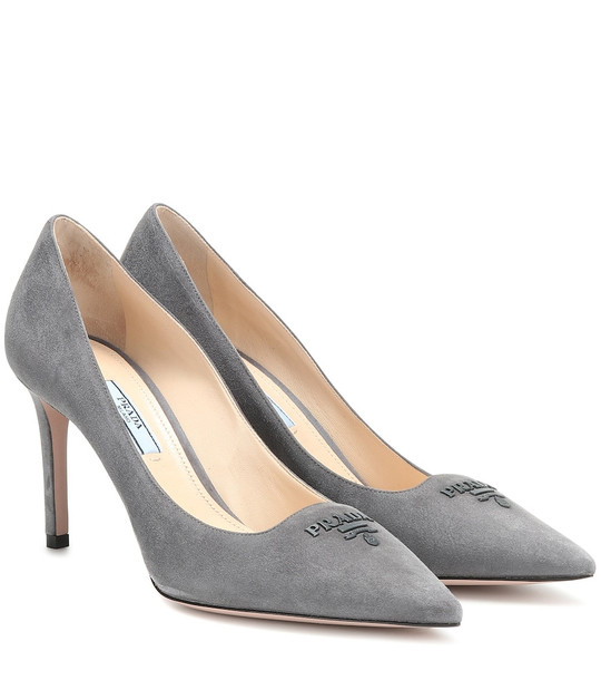 Prada Suede pumps in grey