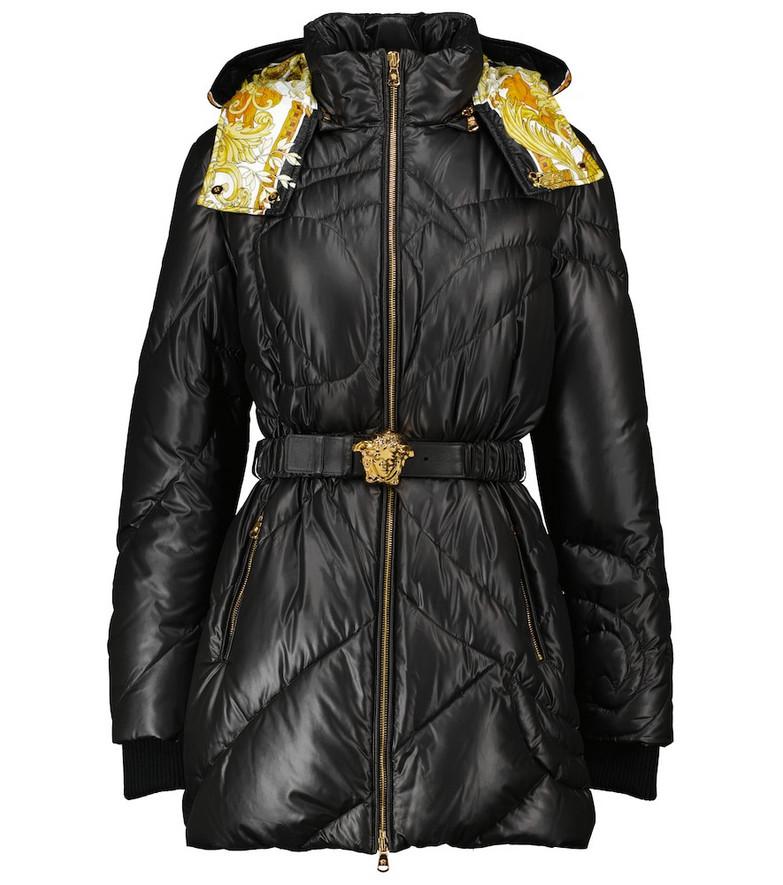 Versace Medusa belted jacket in black
