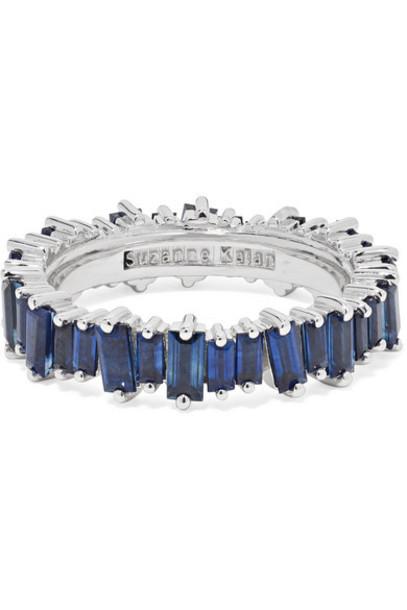 Suzanne Kalan - 18-karat White Gold Sapphire Ring