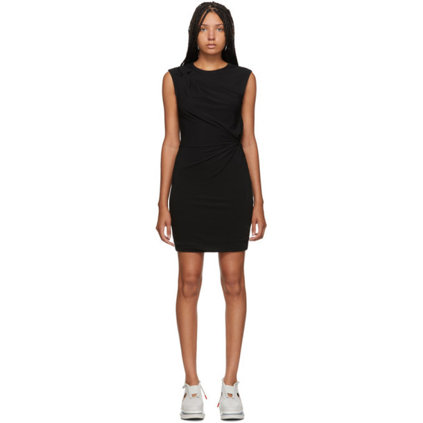 alexanderwang.t Black Crepe Jersey Twisted Minidress