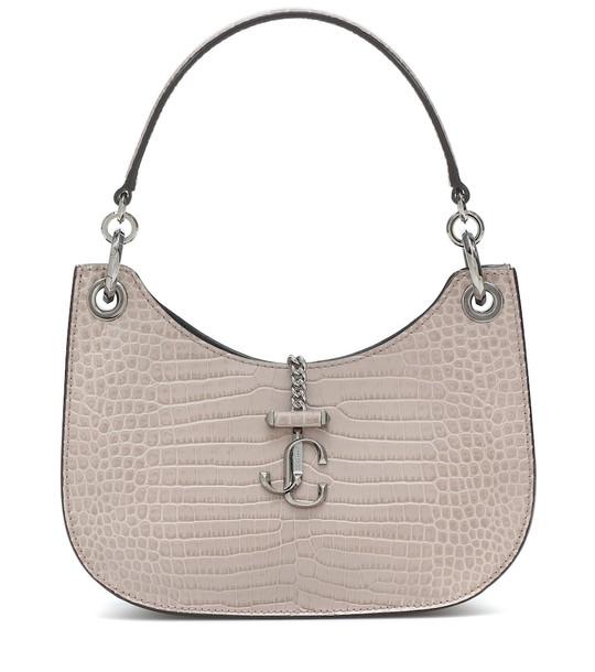 Jimmy Choo Varenne Hobo Small leather shoulder bag in beige