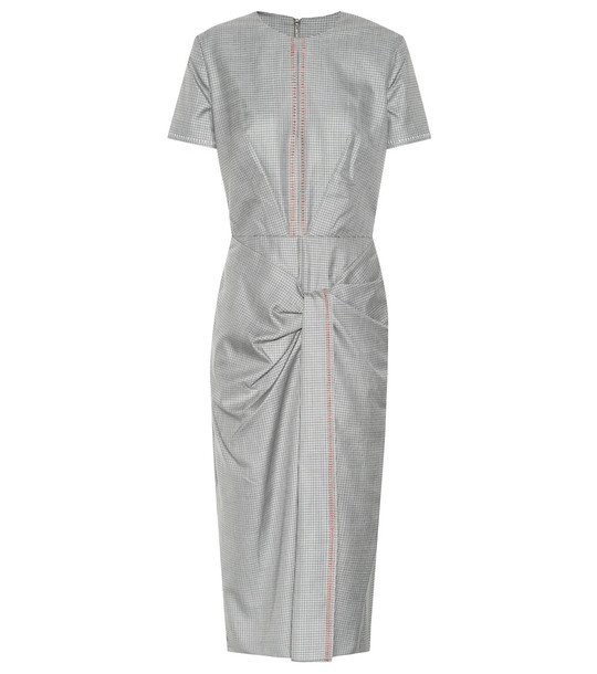 Roland Mouret Dalva wool and silk midi dress in grey