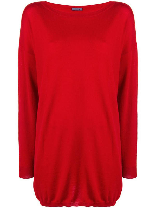 Emanuel Ungaro Pre-Owned 1990's loose fit jumper in red