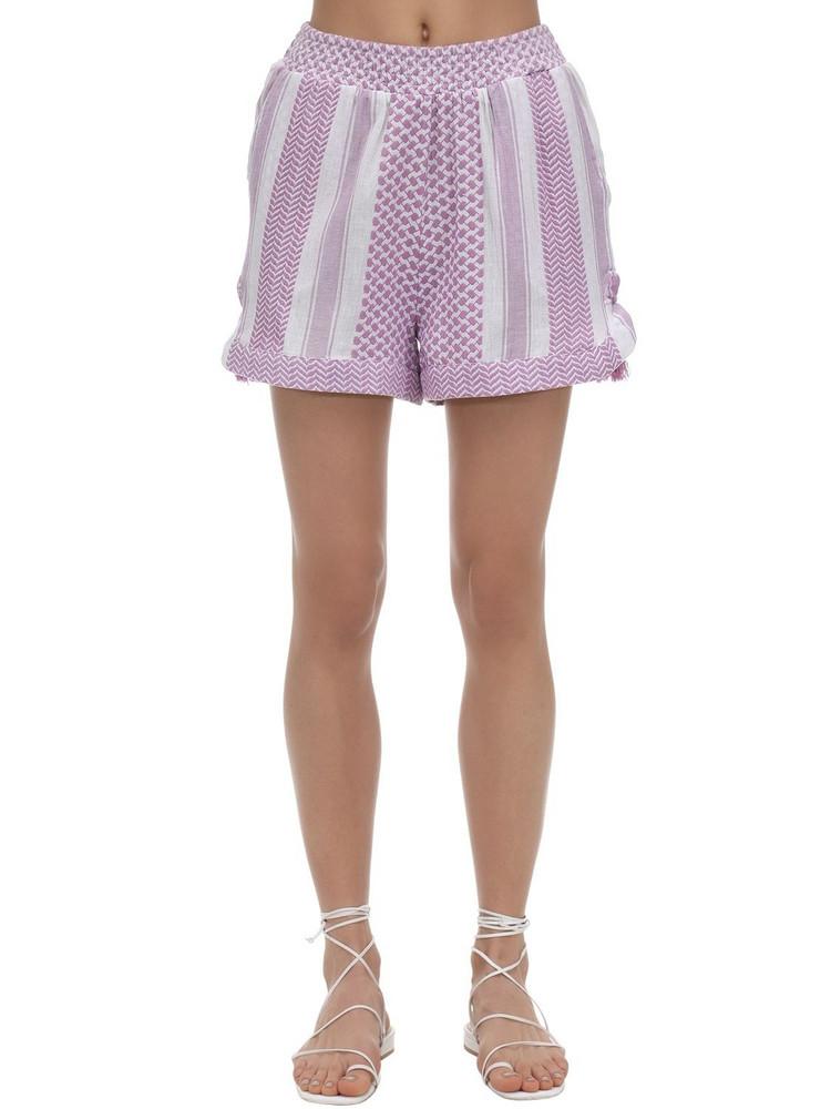 CECILIE COPENHAGEN Britta Cotton Shorts in lilac
