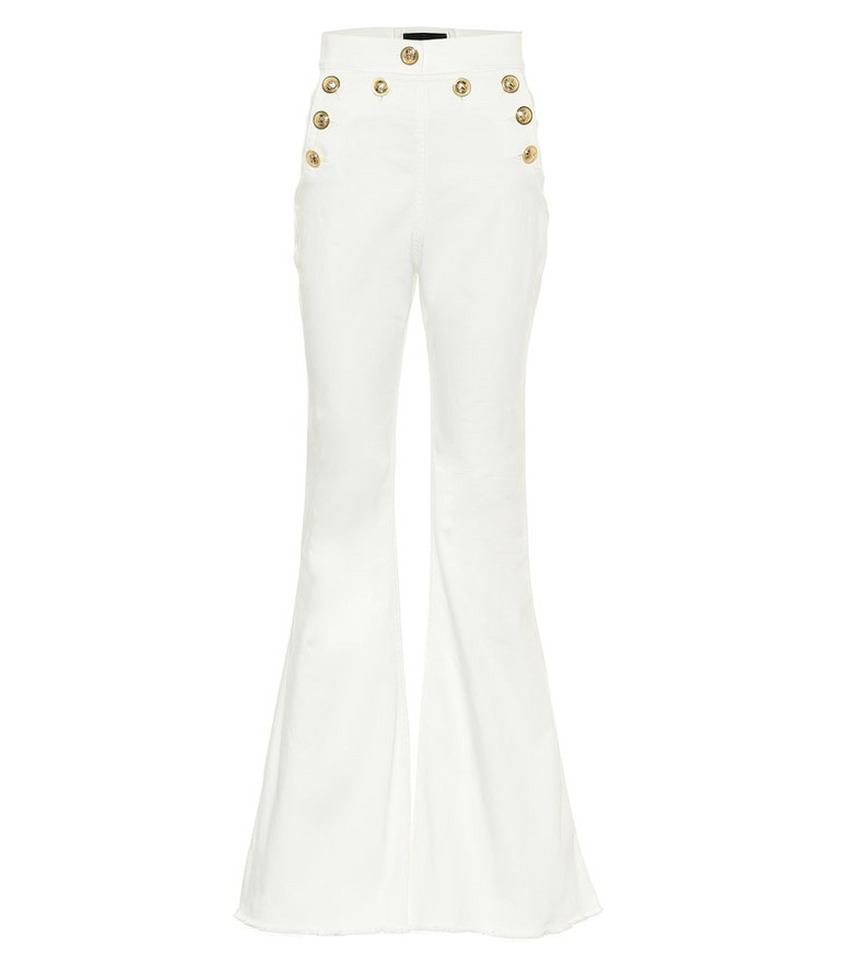 Dundas Stretch-cotton flared jeans in white