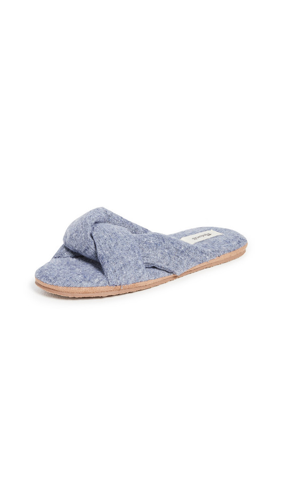Madewell Sylvie Twisted Slippers in indigo / multi