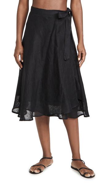 Vitamin A Lana Skirt in black