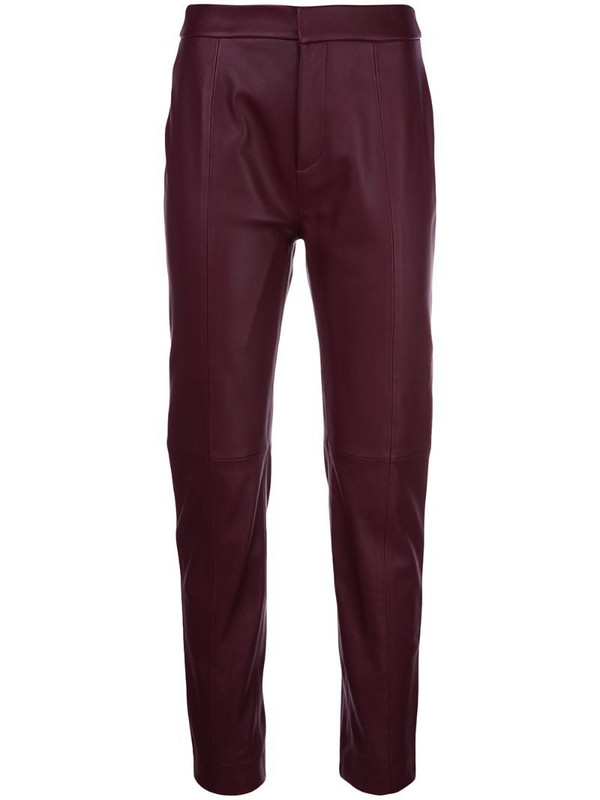 Cynthia Rowley Mckenzie slim-fit trousers in red
