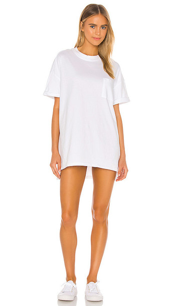Electric & Rose Catalina Tshirt Dress in White